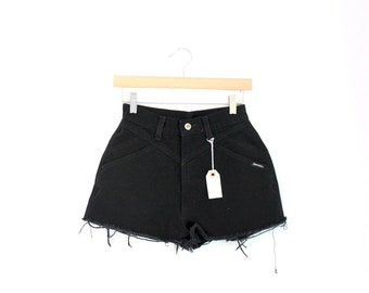 "Waist 26"" High Waisted Vintage Denim Shorts"