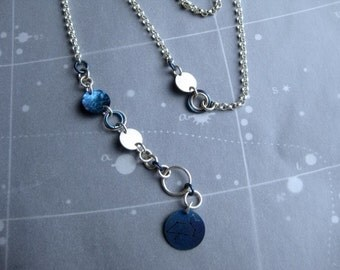 Looping Wrap Chain with Leo Zodiac Constellation Charm