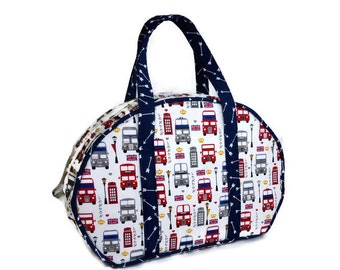 British London Travel Bag, Carry-on Luggage,  Day Tripper, Cosmetic Case, Train Bag, Make-up Bag, Carry-all, Vanity Case, Small Suitcase