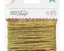 20% OFF DIY Shop Sparkling Gold Twine 20 Feet Total For Scrapbooks, Packaging, Crafts