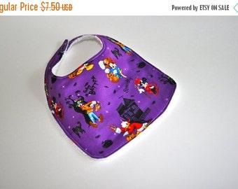 ON SALE Halloween Baby bib,  Mickey Mouse baby bib, Mickey Mouse Halloween Bib, Goofy Bib, Donald Duck Baby bib, Halloween bib, Disney Baby
