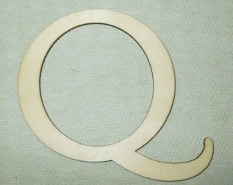Large Wooden Letter - Capital Q -  Personalize It