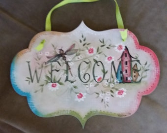 Summer/Spring Welcome Wall Plaque