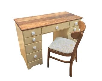 Vintage Desk with Mid Century Chair