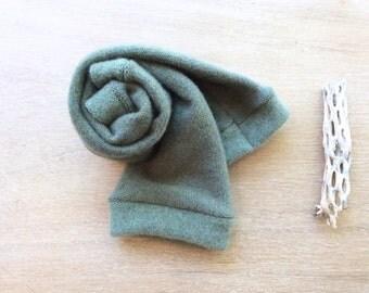 Fingerless Gloves green grey cashmere, fingerless mittens, armwarmers