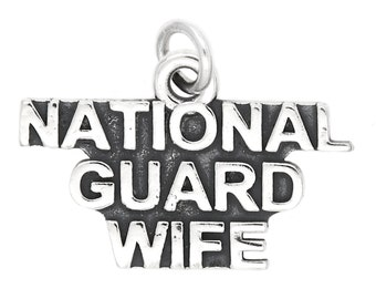 Sterling Silver National Guard Wife Charm