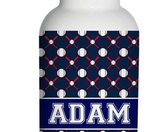 baseball Personalized Aluminum Water Bottle