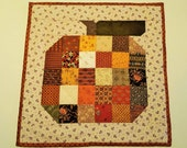 QUILTED MINI PUMPKIN Halloween Thanksgiving Fall decor' mug rug, table runner, wall hanging multiple fall colors