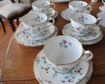 New Chelsea vintage china tea cup trio