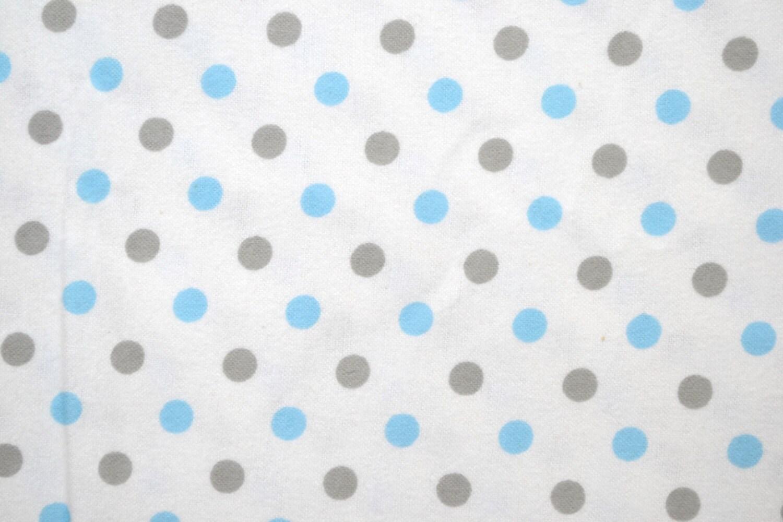 Polka dots fabric by the yard baby boys cut by the 1 2 for Baby fabric by the yard