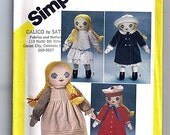 Melissa Victorian Doll and Wardrobe / Original Simplicity Uncut Sewing Pattern 5784