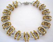 Bracelet Gold Ribbon Aluminum Chainmaille Bangle