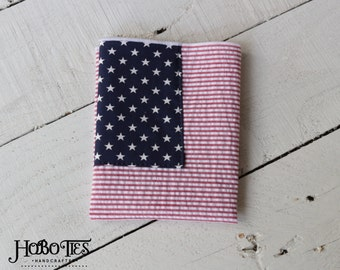 American Flag Pocket Square~Custom Pocket Square~HoBo Ties~Wedding~Anniversary~Mens Gift~Mens Pocket Square~Pocket Hankie~Patrioric~Merrowed
