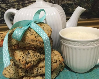 Vegan orange poppy seed scones, 10 scones.