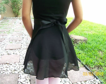 """Child Large/Teen 13"""" Wrap Skirt, Many Colors, Ballet Skirt, Ballet Wrap Skirt, Dance Skirt, Ice Skating Skirt"""