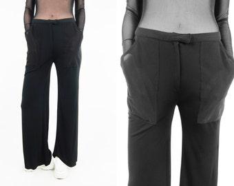 CLAUDE MONTANA Vintage See Through Pocket Pants