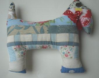 Patchwork dog cushion