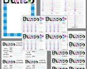 Pajama Party Bunco Printable Set, Pajama Bunco Score Cards & Tally Sheet, Instant Download, Editable Bunco Invites
