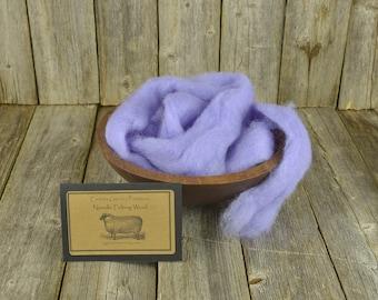 NEW Orchid - Needle Felting Wool - Natural Wool Roving-Wet Felting Wool-Nuno Felting