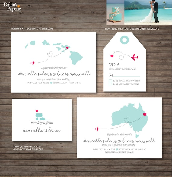 Destination Wedding Invitations Wording: Hawaii Destination Wedding Invitation Printables By