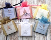Modern Tribal Soap Favors For Shower Baby Wedding With Organza Bags 100% Natural Cold Processed
