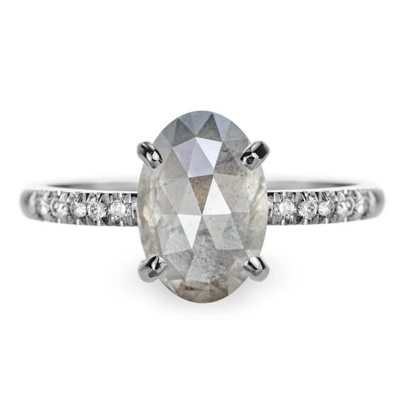 Grey Diamond Engagement Ring