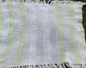Vintage Handmade Baby Blanket Crocheted