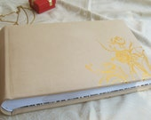 Large Leather Wedding Photo Album – Handmade Cream Leather Album for 100 photos
