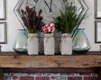 Personalized Mantle Mason Jar Centerpiece Fall Wedding mason jar wedding Shower Centerpiece Party Decoration fall wedding