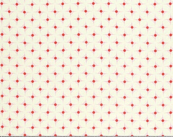 Nicey Jane by Heather Bailey for Free Spirit - Hop Dot - Cherry - 1/2 yard Cotton Quilt Fabric 916
