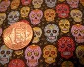 Sugar Skull dollhouse miniature BJD designer fabric