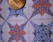 Miniature nautical cheater quilt design fabric dollhouse BJD