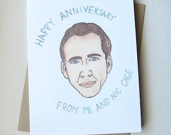 Nicholas Cage Card// Funny Anniversary