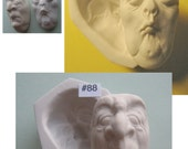 Your Choice - Rigid Polymer Clay Press Molds of a Female Spinster or Male Prude Doll Face Cab by M. Patrick Arts & Crafts