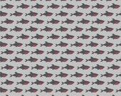 Blackbeard Shark in Gray - Blackbeard's Pirates - Dani Mogstad - Riley Blake Designs - 1 Yard