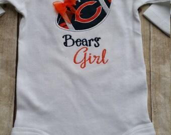 Chicago Bears Girl Baby Shirt   Onesie