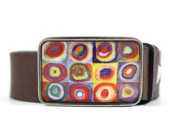Belt Buckle, Kandinsky, Geometric, Abstract, Fine Art, resin belt buckle, For Her, Women's