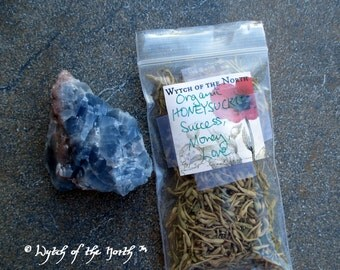 HONEYSUCKLE Dried Loose Herb - Success & Money, Herbal Enchantments, Witches Apothecary, Botanical Magick, Herbal Magick, Witchcraft, Hoodoo