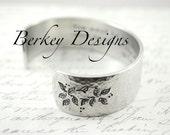 Serenity Prayer or Custom Secret Message Hand Stamped Personalized Cuff Bracelet