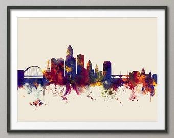 Des Moines Iowa Skyline, Art Print (2424)
