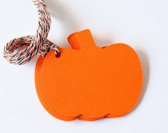 Pumpkin Tags - Halloween Gift Tags - Pumpkin Favor Tags - Blank Pumpkin Shaped Tags - Tags for Stamping - Halloween Party Tags - Fall Tags
