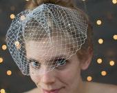 Beautiful Bridal Swarovski Rhinestone Birdcage Veil