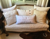 Vintage Louis XV style French Crewel type Upholstered Settee/Loveseat/Love seat -Local Pick Up
