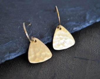 DAINTY TRIANGLE gold brass EARRINGS