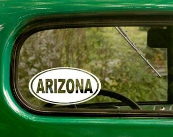 Oval Arizona Decal, Car Decal, Arizona Sticker, Laptop Sticker, Oval Sticker, Bumper sticker, Vinyl Decal, Car Stickers