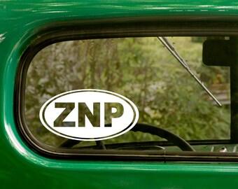 Zion National Park Decal, ZNP Sticker, Car Decal, Travel Mug, Laptop Sticker, Oval Sticker, Vinyl Decal, Car Sticker