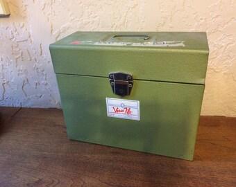 Vintage Green Metal File Box