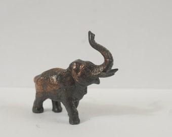 Vintage Solid Bronze Elephant Figurine by Dodge Inc USA