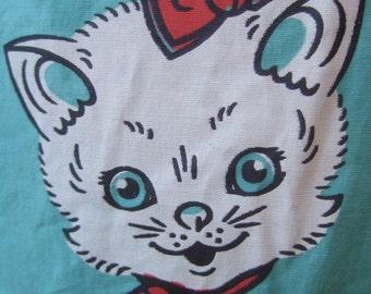 Whimsical Cotton Kitty Cat Sun Dress