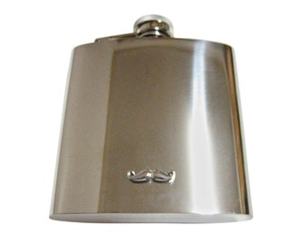 Curly Mustache 6 oz. Stainless Steel Flask